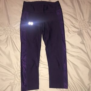 Under Armour purple cropped fitted pant